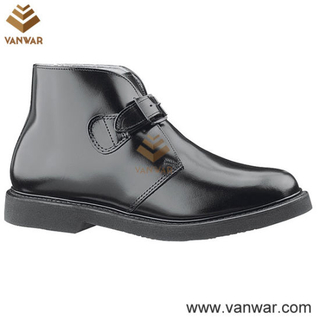 PU Classic Buckle Military Officer Shoes (WMS006)