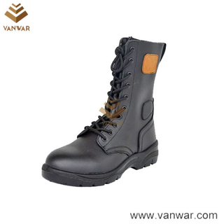 Full Grain Cow Leather Breathable Lining Military Tactical Boots (WTB037)