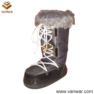 New Design Military Snow Women Boots with Warm Wool (WSB036)