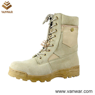 Suede Cow Leather Military Desert Boots for Army Soliders (WDB008)