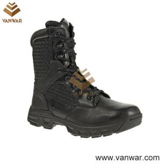 Black Tactical Military Boots for Army Soliders (WTB026)
