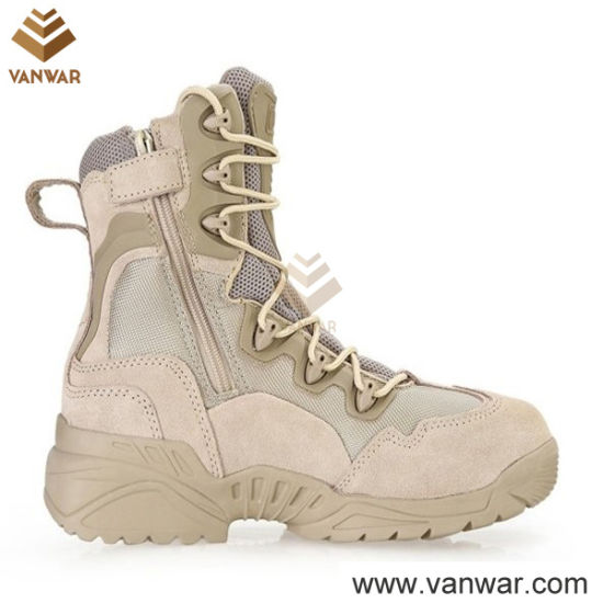 Breathable Military Desert Boots of Tan Desert Color (WDB039)