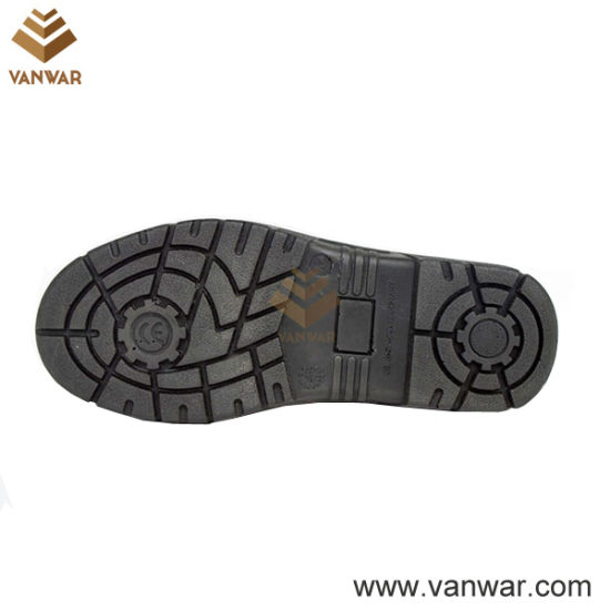 High Quality Top Layer Leather Military Working Safety Boots of PU Injection (WWB050)