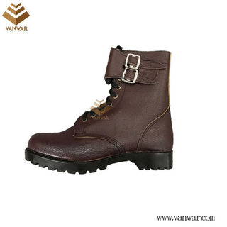 Full Leather Red Military Combat Boots with High Quality (WCB056)