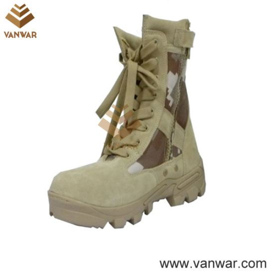 Anti-Slip Military Desert Boots with Comfortable Mesh Lining (WDB038)