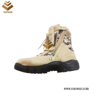 Zipper Military Desert Boots with High Quality (WDB057)