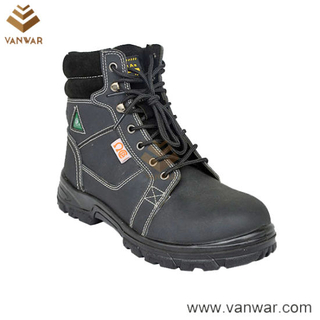 Mesh Lining Military Working Safety Boots of Top Layer Leather (WWB056)