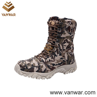 Suede Cow Leather Military Camouflage Boots with Rubber Outsole (CMB012)