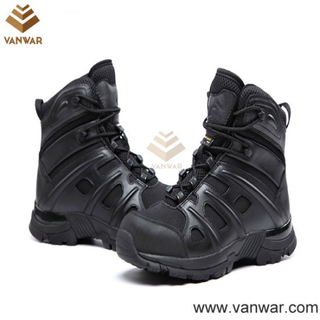 Anti-Slip Black Military Tactical Boots (WTB028)