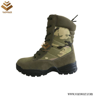 Zipper Military Camouflage Boots with High Quality Insoles (WDB054)