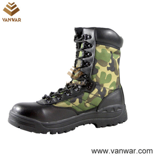 Camo Canvas Camouflage Military Combat Boots (CMB009)