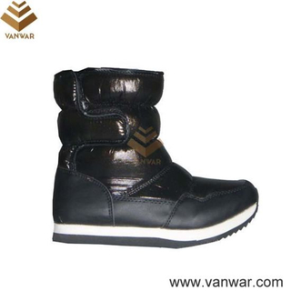 Black Cemented Russian Snow Boots for Ladies (WSCB015)
