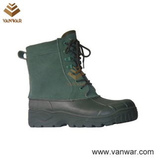 Dark Green Canadian Waterproof Snow Boots with Comfortable Lining (WSB010)