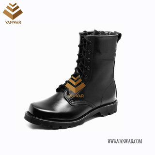 Military Combat Boots of Black with High Quality (WCB069)