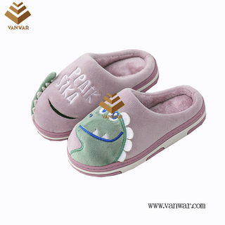 Customize Indoor Cotton lovely design Slippers with High Quality (wis050)