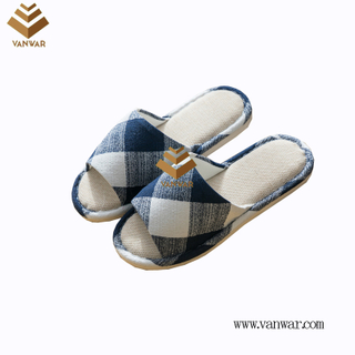 Customize Indoor Cotton winter home Slippers with High Quality (wis098)