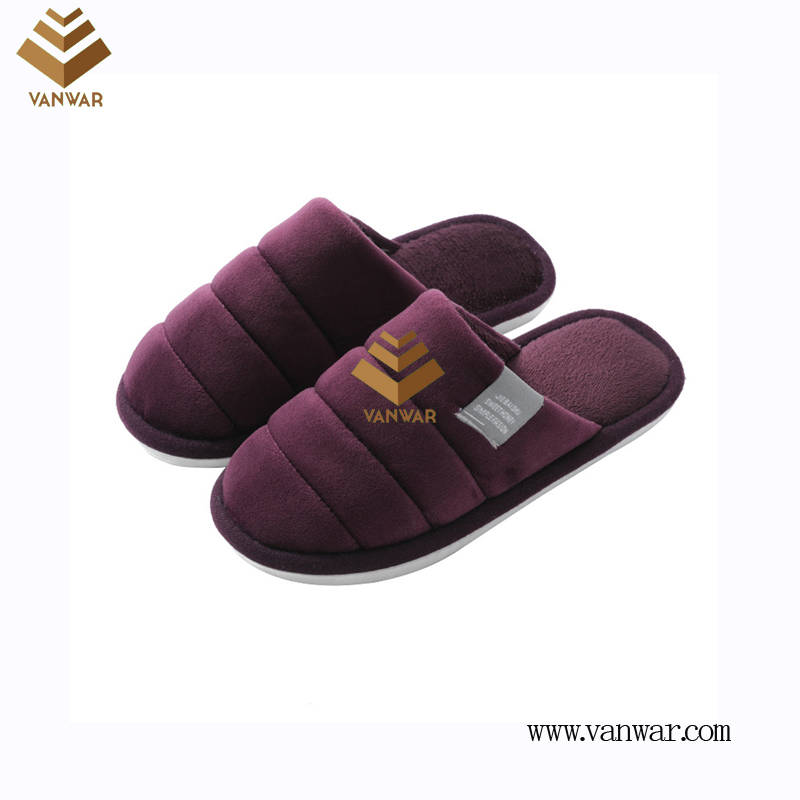 Customize Indoor Cotton lovely design Slippers with High Quality (wis064)