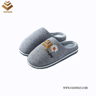 Customize Indoor Cotton lovely design Slippers with High Quality (wis029)
