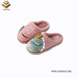 Customize Indoor Cotton lovely design Slippers with High Quality (wis052)