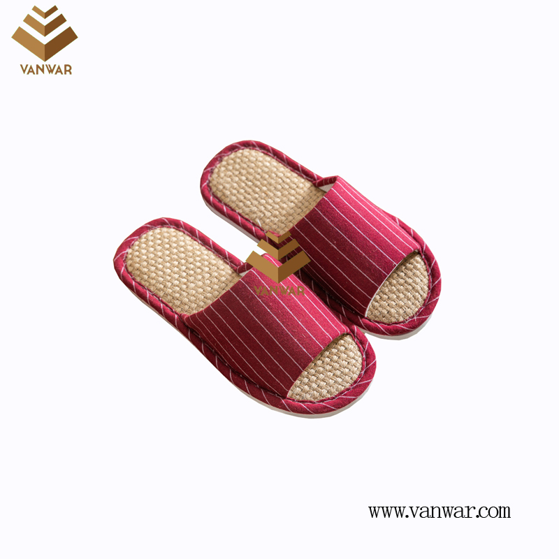 Customize Indoor Cotton winter home Slippers with High Quality (wis088)