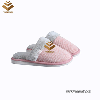 Customize Indoor Cotton lovely design Slippers with High Quality (wis042)