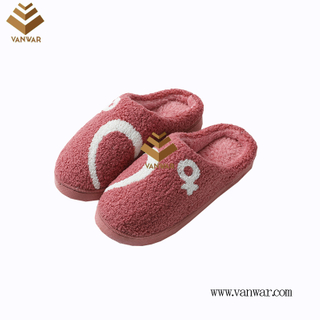 Customize Indoor Cotton lovely design Slippers with High Quality (wis048)