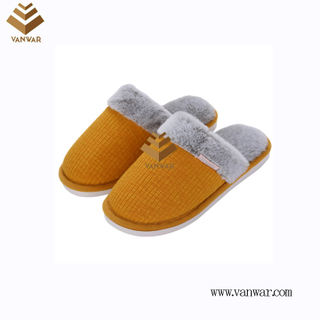 Customize Indoor Cotton lovely design Slippers with High Quality (wis043)
